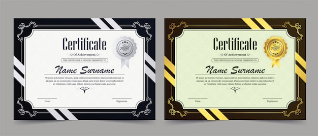 Шаблон сертификата достижения