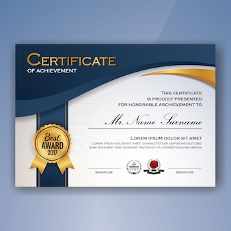 Certificate vectors photos and psd files free download certificate of achievement template yadclub Choice Image
