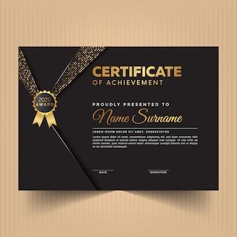 Сертификат благодарности за дизайн шаблона с современными элементами