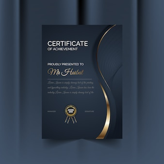 Сертификат благодарности дизайн шаблона