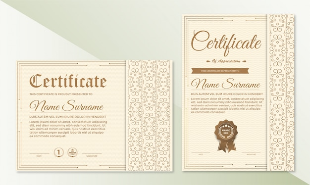 Сертификат благодарности шаблон с винтажной каймой