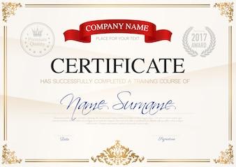 Сертификат об окончании формы