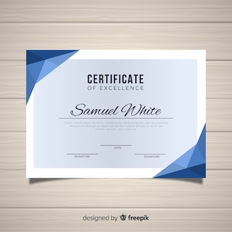 Сертификат шаблона excelence