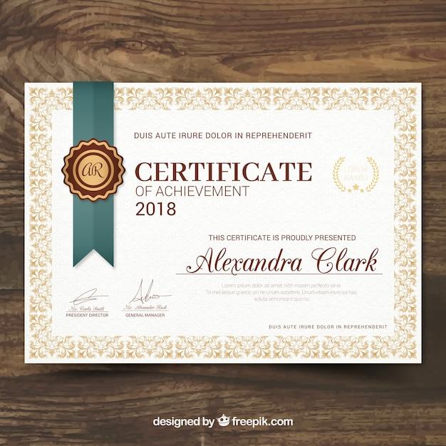 certificate template psd free