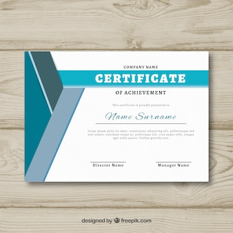 Certificate of recognition with flat style