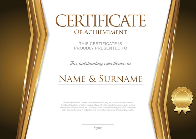 우수한 복고풍 빈티지 디자인의 인증서 또는 졸업장