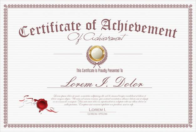 証明書または卒業証書のレトロなビンテージデザイン