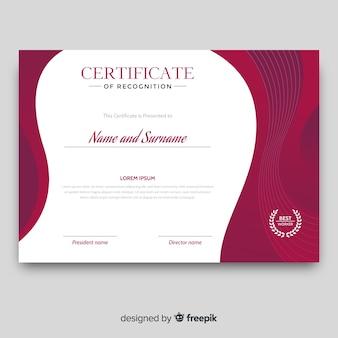 Certificato di modello di riconoscimento