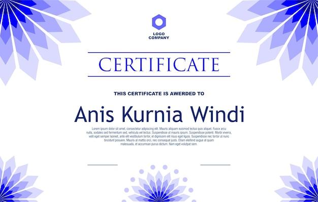 Сертификат tempelate design