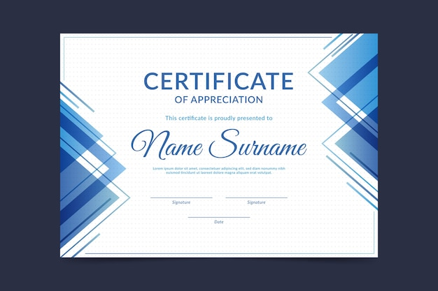 Certificate template in abstract design