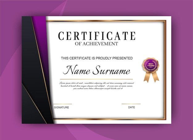 Certificate template background. award diploma design blank. illustration design