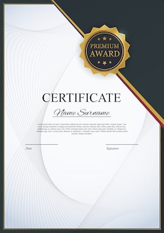 Certificate template background. award diploma design blank.  illustration