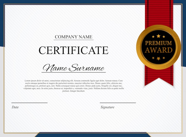 Certificate template background. award diploma design blank.