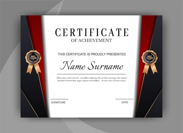 Certificate template background. award diploma design blank