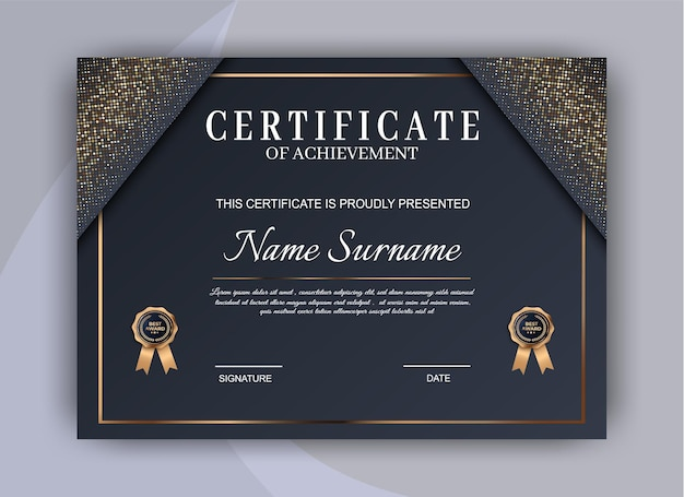 Certificate template background. award diploma design blank. Premium Vector