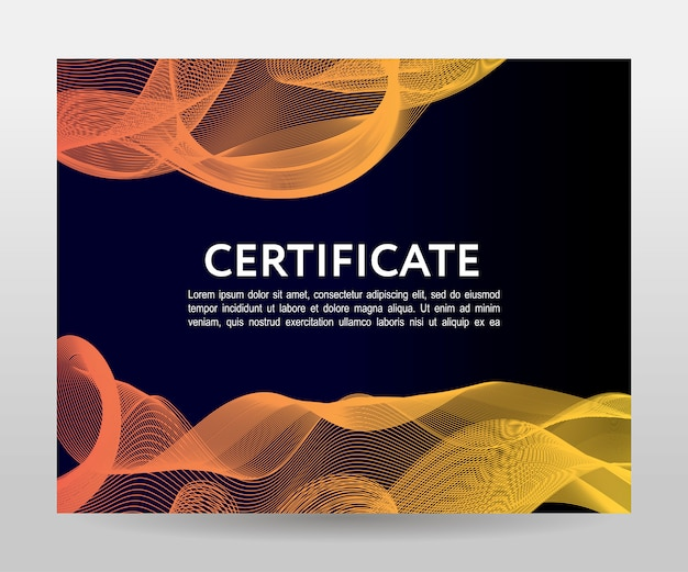 Certificate template background