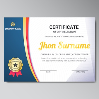 Certificate frame vectors photos and psd files free download certificate template design yadclub Images