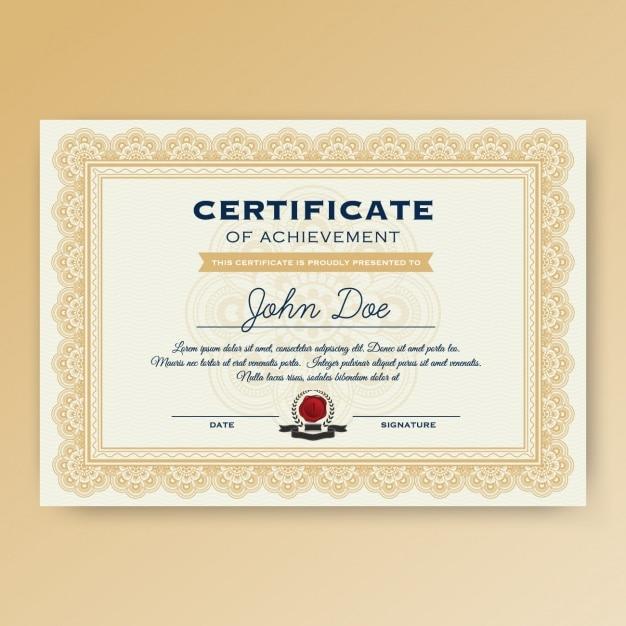 psd certificate template free