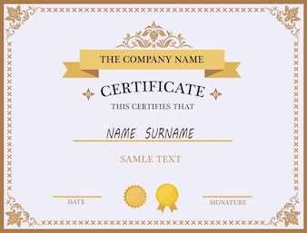 Certificate design vectors photos and psd files free download certificate template design yadclub Choice Image
