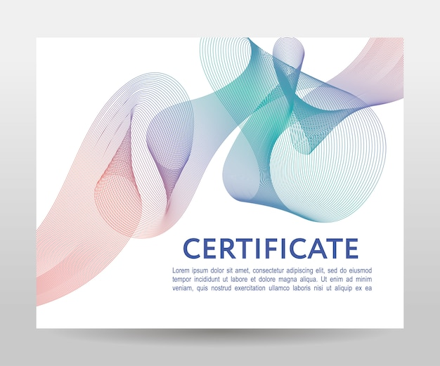 Certificate. template diplomas, currency.  gradient frame