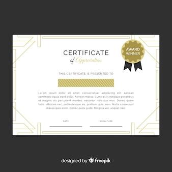 Certificate template in flat design