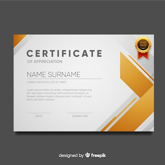 Certificate template in abstract style