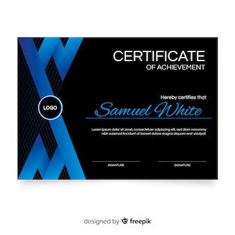 Шаблон сертификата в плоском дизайне