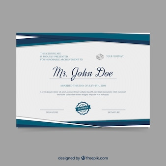 Certificate template in flat style