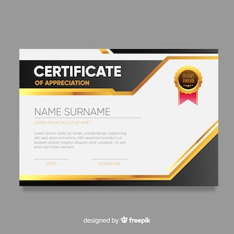 Certificate template in modern design