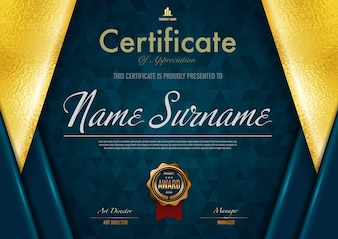 Certificate template luxury and diploma style