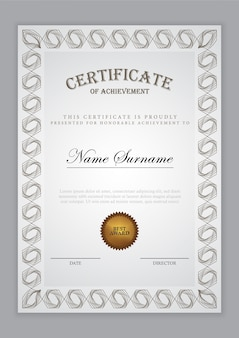 Certificate template luxury design with text element, diploma
