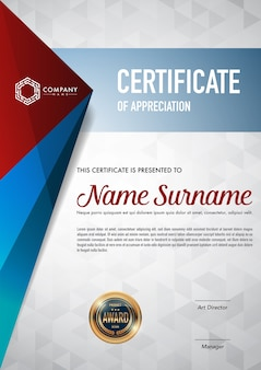 Certificate template luxury and diploma style.