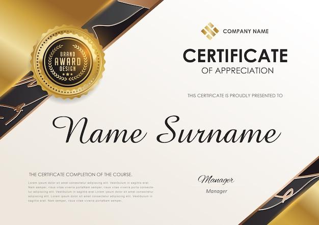 Certificate template  luxury