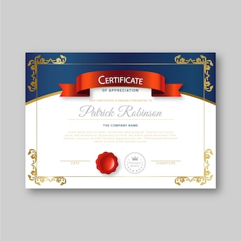 Certificate template with elegant concept