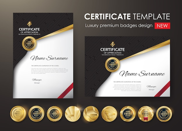 Certificate template with luxury pattern