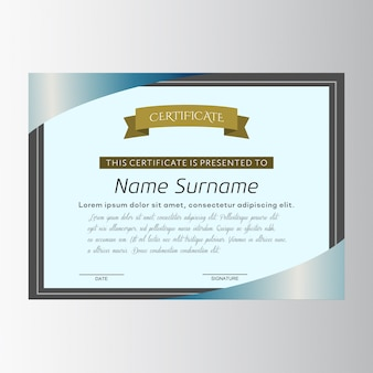 Certificate with a black frame
