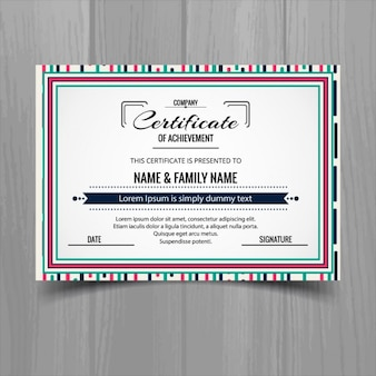 Certificate with a cute frame