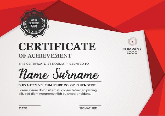 Дизайн сертификат