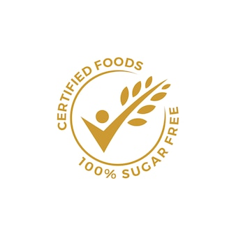 Certified food people check grain oat leaf tick verified gluten free badge or label