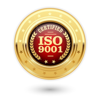 Certified iso 900 medal - quality management system insignia