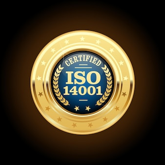 Certified medal - quality standard golden insignia