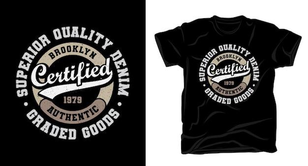 Tシャツデザインの認定タイポグラフィ