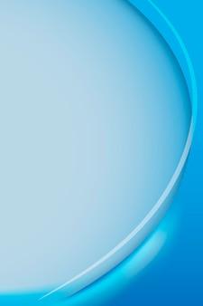 Vettore di modello di cornice curva blu ceruleo