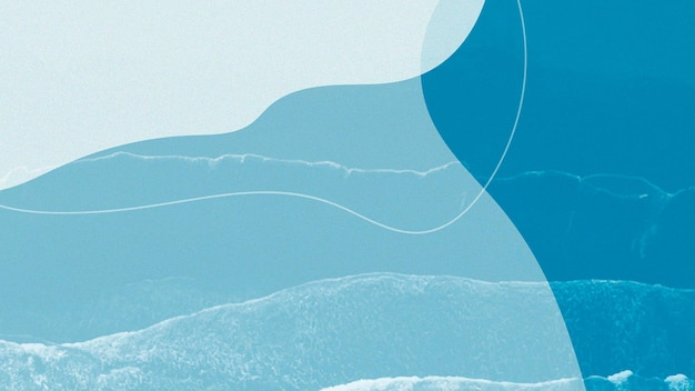 セルリアンのシンプルなメンフィスデザインのプレゼンテーション