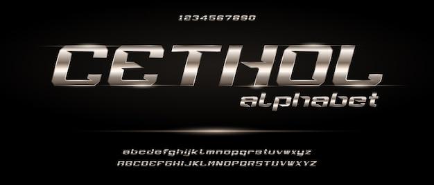 Cethol, спортивный цифровой современный футуристический алфавит с шаблоном городского стиля