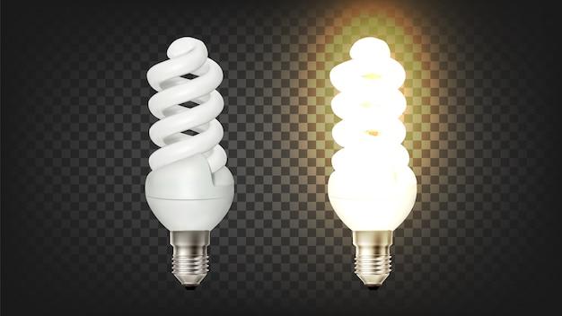 Светящаяся спиральная компактная люминесцентная лампа cfl