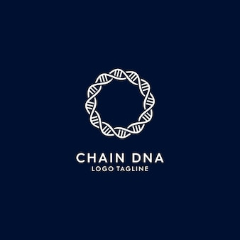 Chain dna modern logo