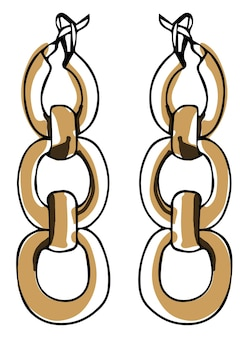 Chain earrings fashionable accessories for girls