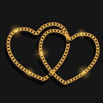 체인 심장 사랑 배경입니다.