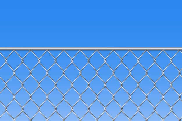 Chain link fence wire mesh steel metal background.